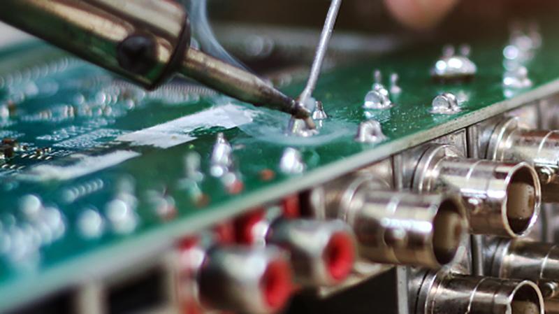 电子元器件锡线堆锡解决方案